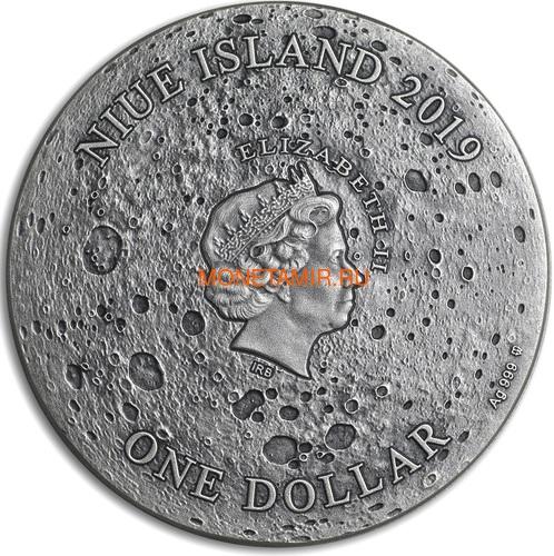 Ниуэ 1 доллар 2019 Лунный Кратер Коперник Метеорит NWA 8609 Кратеры Вселенной (Niue 1$ 2019 Copernicus Moon Meteorite NWA 8609 Universal Craters 1Oz Silver Coin).Арт.000792257849/65 (фото, вид 2)