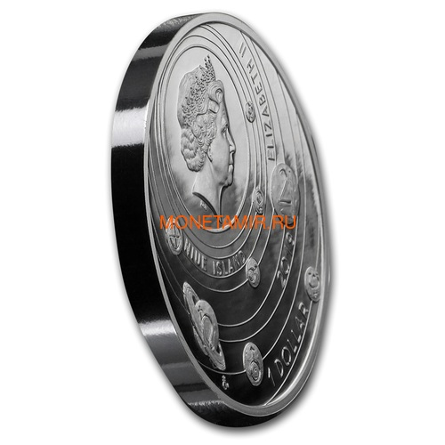 Ниуэ 1 доллар 2019 Солнечная Система Луна (Niue 1$ 2019 Solar System Moon 1Oz Silver Coin).Арт.67 (фото, вид 1)