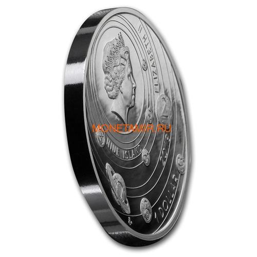 Ниуэ 1 доллар 2019 Солнечная Система Луна (Niue 1$ 2019 Solar System Moon 1Oz Silver Coin).Арт.CZ/67 (фото, вид 1)