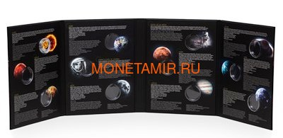Ниуэ 1 доллар 2019 Солнечная Система Луна (Niue 1$ 2019 Solar System Moon 1Oz Silver Coin).Арт.67 (фото, вид 8)