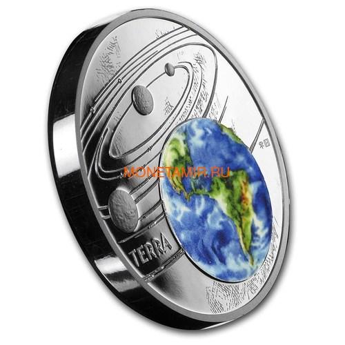 Ниуэ 1 доллар 2019 Солнечная Система Земля (Niue 1$ 2019 Solar System Earth 1Oz Silver Coin).Арт.CZ/67 (фото, вид 1)