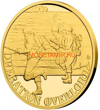 Ниуэ 4х25 долларов 2019 Великая Отечественная Война 1944 Битва Монте-Кассино Операция Оверлорд Операция Маркет Гарден Битва Лейте (Niue 4х25$ 2019 Set Gold Coins War 1944 Battle of Monte Cassino Operation Overlord Operation Market Garden Battle of Leyte). (фото, вид 3)