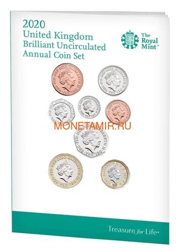 Великобритания Полный Годовой Набор 2020 (The 2020 UK Brilliant Uncirculated Annual Coin Set).Арт.65 (фото, вид 1)