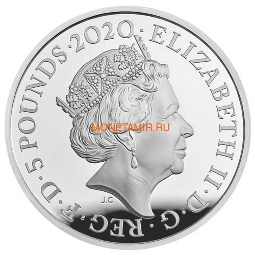 Великобритания 5 фунтов 2020 Король Георг III (GB 5£ 2020 A Celebration of the Reign of George III Silver Proof Coin).Арт.65 (фото, вид 1)