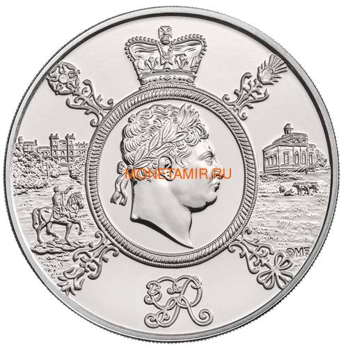 Великобритания 5 фунтов 2020 Король Георг III (GB 5£ 2020 A Celebration of the Reign of George III Brilliant Uncirculated Coin) Блистер.Арт.65 (фото, вид 1)