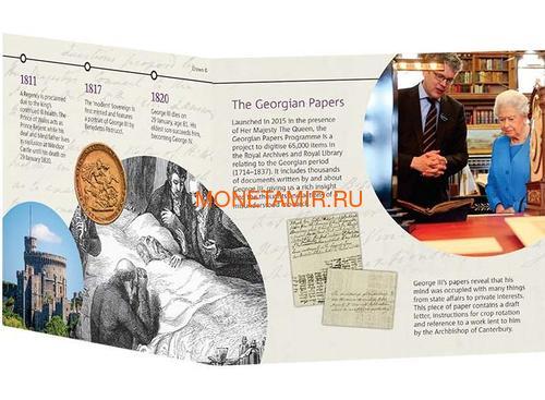 Великобритания 5 фунтов 2020 Король Георг III (GB 5£ 2020 A Celebration of the Reign of George III Brilliant Uncirculated Coin) Блистер.Арт.65 (фото, вид 4)