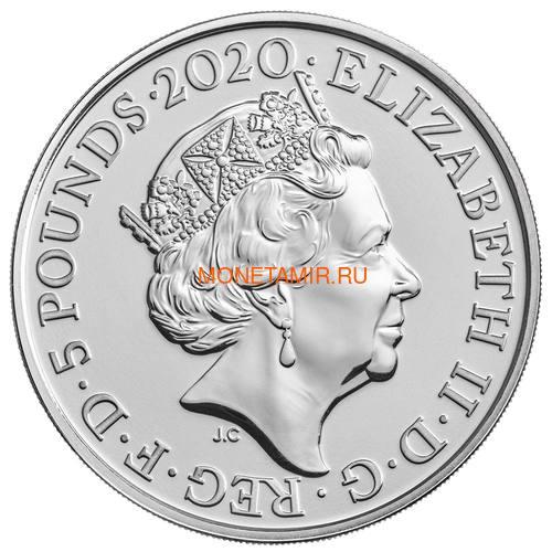 Великобритания 5 фунтов 2020 Король Георг III (GB 5£ 2020 A Celebration of the Reign of George III Brilliant Uncirculated Coin) Блистер.Арт.65 (фото, вид 2)