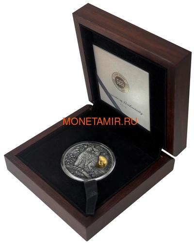 Ниуэ 5 долларов 2019 Ушастая Сова (Niue 5$ 2019 Long Eared Owl Asio Otus 2 oz Silver Coin).Арт.65 (фото, вид 4)