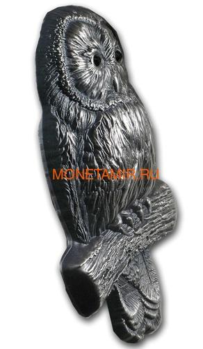 Монголия 1000 тугриков 2019 Уральская Сова Фигурка (Mongolia 1000T 2019 Ural Owl 3D 2 oz Silver Coin).Арт.65 (фото, вид 1)