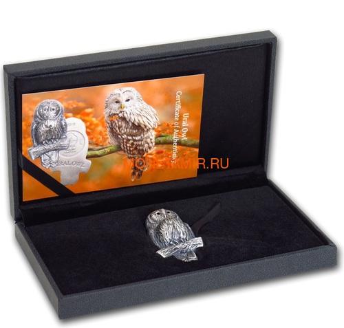 Монголия 1000 тугриков 2019 Уральская Сова Фигурка (Mongolia 1000T 2019 Ural Owl 3D 2 oz Silver Coin).Арт.65 (фото, вид 4)