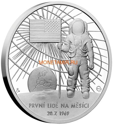 Ниуэ 2 доллара 2019 Первый Человек на Луне Космос (Niue 2$ 2019 First Man on the Moon 1 oz Silver Coin).Арт.CZ/65 (фото, вид 1)