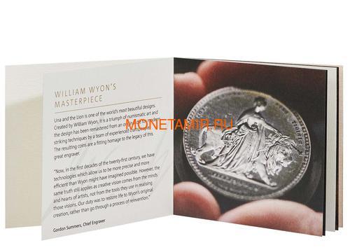 Великобритания 5 фунтов 2019 Уна и Лев (GB 5£ 2019 Una and the Lion 2oz Silver Proof Coin).Арт.65 (фото, вид 4)