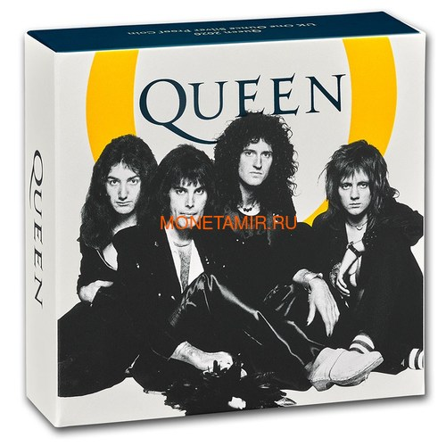 Великобритания 2 фунта 2020 Куин Легенды Музыки (GB 2£ 2020 Queen Music Legends 1oz Silver Proof Coin).Арт.65 (фото, вид 5)