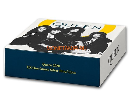 Великобритания 2 фунта 2020 Куин Легенды Музыки (GB 2£ 2020 Queen Music Legends 1oz Silver Proof Coin).Арт.92E (фото, вид 6)