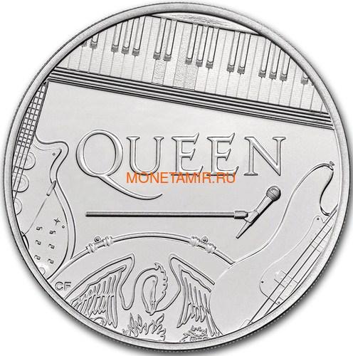 Великобритания 5 фунтов 2020 Куин Легенды Музыки (GB 5£ 2020 Queen Music Legends Brilliant Uncirculated Coin) Блистер.Арт.65 (фото, вид 1)