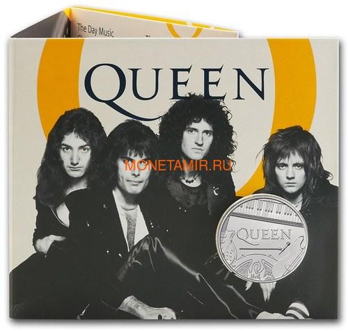 Великобритания 5 фунтов 2020 Куин Легенды Музыки (GB 5£ 2020 Queen Music Legends Brilliant Uncirculated Coin) Блистер.Арт.65 (фото, вид 3)