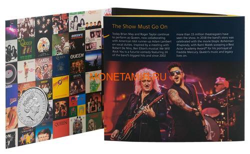 Великобритания 5 фунтов 2020 Куин Легенды Музыки (GB 5£ 2020 Queen Music Legends Brilliant Uncirculated Coin) Блистер.Арт.65 (фото, вид 8)