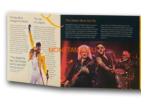 Великобритания 5 фунтов 2020 Куин Легенды Музыки (GB 5£ 2020 Queen Music Legends Brilliant Uncirculated Coin) Блистер.Арт.65 (фото, вид 7)