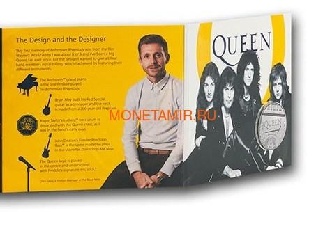 Великобритания 5 фунтов 2020 Куин Легенды Музыки (GB 5£ 2020 Queen Music Legends Brilliant Uncirculated Coin) Блистер.Арт.65 (фото, вид 6)