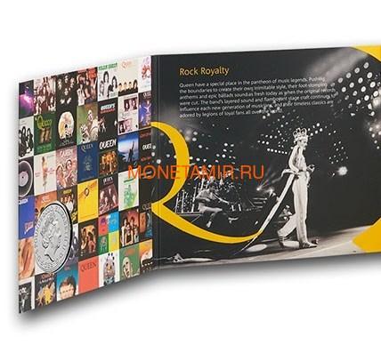 Великобритания 5 фунтов 2020 Куин Легенды Музыки (GB 5£ 2020 Queen Music Legends Brilliant Uncirculated Coin) Блистер.Арт.65 (фото, вид 4)