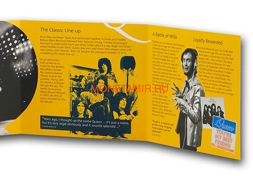 Великобритания 5 фунтов 2020 Куин Легенды Музыки (GB 5£ 2020 Queen Music Legends Brilliant Uncirculated Coin) Блистер.Арт.65 (фото, вид 5)