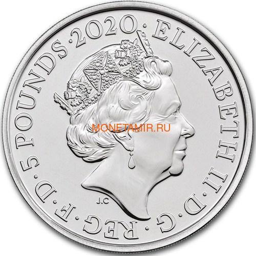 Великобритания 5 фунтов 2020 Куин Легенды Музыки (GB 5£ 2020 Queen Music Legends Brilliant Uncirculated Coin) Блистер.Арт.65 (фото, вид 2)