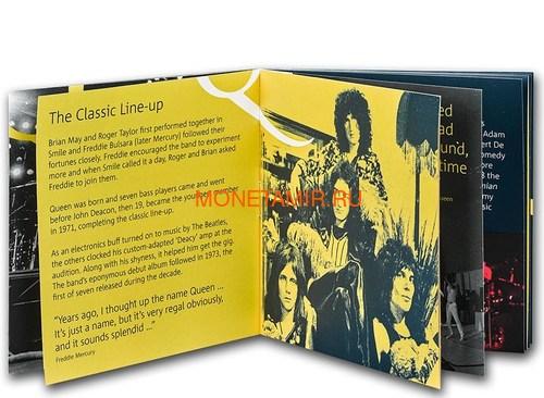 Великобритания 1 фунт 2020 Куин Легенды Музыки (GB 1£ 2020 Queen Music Legends Half Oz Silver Proof Coin).Арт.65 (фото, вид 4)