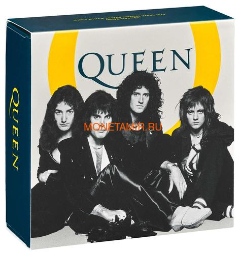 Великобритания 1 фунт 2020 Куин Легенды Музыки (GB 1£ 2020 Queen Music Legends Half Oz Silver Proof Coin).Арт.65 (фото, вид 6)