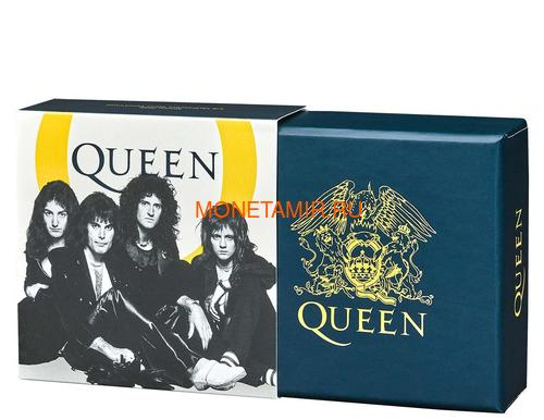 Великобритания 1 фунт 2020 Куин Легенды Музыки (GB 1£ 2020 Queen Music Legends Half Oz Silver Proof Coin).Арт.65 (фото, вид 5)