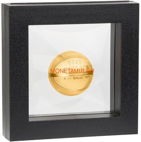 Самоа 5 долларов 2020 Баскетбол Мяч Шар (Samoa 5$ 2020 Basketball 3D 1 Oz Silver Coin Spherical).Арт.65 (фото, вид 4)