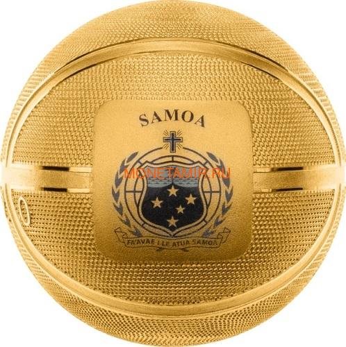 Самоа 5 долларов 2020 Баскетбол Мяч Шар (Samoa 5$ 2020 Basketball 3D 1 Oz Silver Coin Spherical).Арт.65 (фото, вид 2)