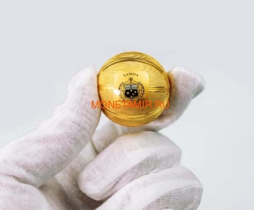 Самоа 5 долларов 2020 Баскетбол Мяч Шар (Samoa 5$ 2020 Basketball 3D 1 Oz Silver Coin Spherical).Арт.65 (фото, вид 3)