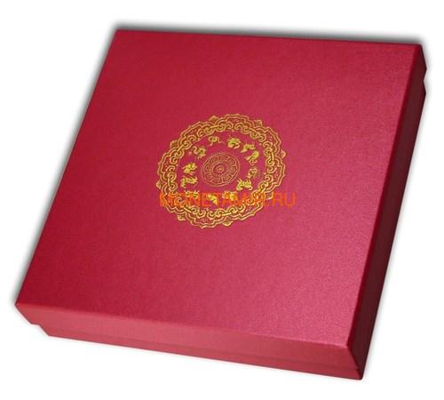 Лаос 2000 кип 2021 Год Быка Лунный Календарь Нефрит (Laos 2000K 2021 Lunar Ox Jade 2 Oz Silver Coin).Арт.65 (фото, вид 5)