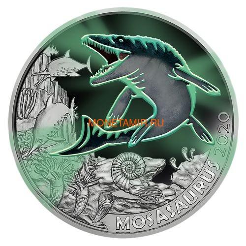 Австрия 3 евро 2020 Мозазавр серия Суперзавры (Mosasaurus The Spinosaurus Austria 3 euro 2020).Арт.65 (фото, вид 1)