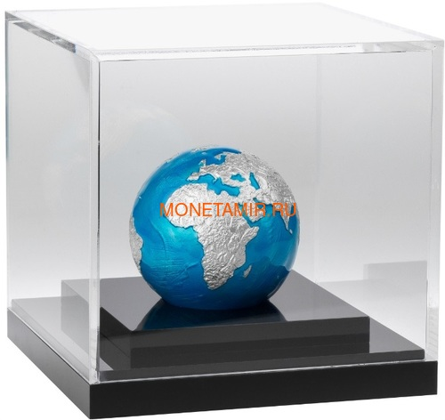Барбадос 5 долларов 2020 Голубой Мрамор Планета Земля Космос Шар (Barbados 5$ 2020 Blue Marble Planet Earth 3oz Silver Coin Spherical).Арт.65 (фото, вид 2)