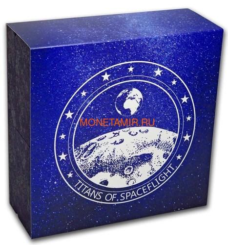 Фиджи 10 долларов 2019 Титаны Космических Полетов 0,5 Кило (Fiji 10$ 2019 Titans of Spaceflight 0,5 Kilo Silver Coin).Арт.Е85 (фото, вид 9)