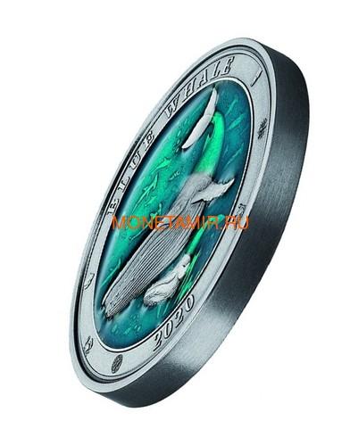 Барбадос 5 долларов 2020 Синий Кит Подводный Мир (Barbados 5$ 2020 Blue Whale Underwater World 3oz Silver).Арт.Е85 (фото, вид 1)