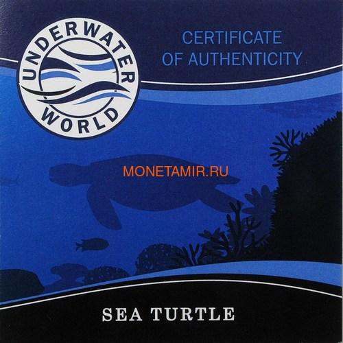 Барбадос 5 долларов 2018 Морская Черепаха Подводный Мир (Barbados 5$ 2018 Sea Turtle Underwater World).Арт.60 (фото, вид 6)