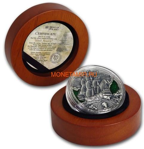 Камерун 2000 франков 2019 Корабль Баунти Кристиан Флетчер серия Золотой Век Мореплавания (Cameroon 2000 Francs 2019 HMS Bounty Golden Age of Sail 2 oz Silver Coins).Арт.Е85 (фото, вид 3)