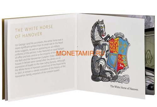 Великобритания 500 фунтов 2020 Белая Ганноверская Лошадь серия Звери Королевы (GB 500£ 2020 Queen's Beast White Horse of Hanover Gold Coin).Арт.65 (фото, вид 4)