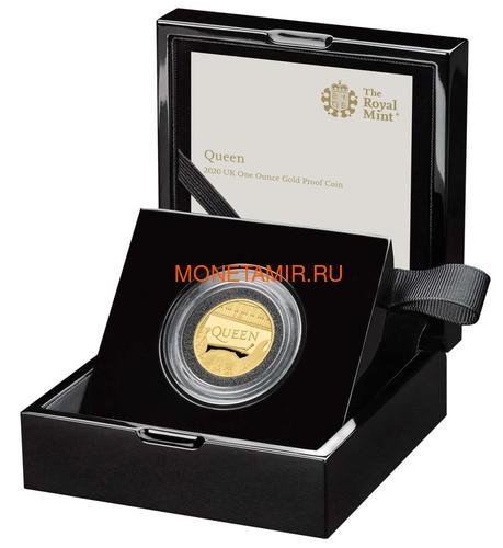 Великобритания 100 фунтов 2020 Куин Легенды Музыки (GB 100£ 2020 Queen Music Legends Gold Proof Coin).Арт.92E (фото, вид 2)