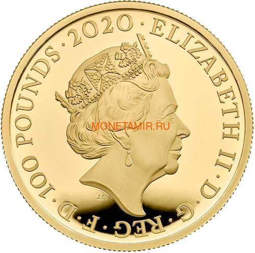 Великобритания 100 фунтов 2020 Куин Легенды Музыки (GB 100£ 2020 Queen Music Legends Gold Proof Coin).Арт.92E (фото, вид 1)