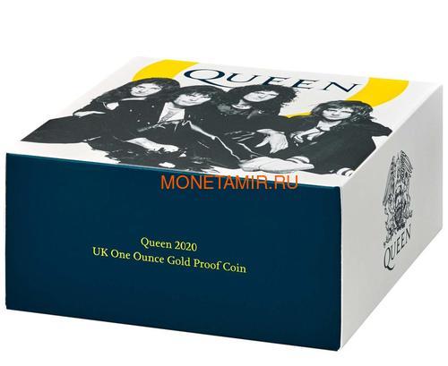 Великобритания 100 фунтов 2020 Куин Легенды Музыки (GB 100£ 2020 Queen Music Legends Gold Proof Coin).Арт.65 (фото, вид 4)