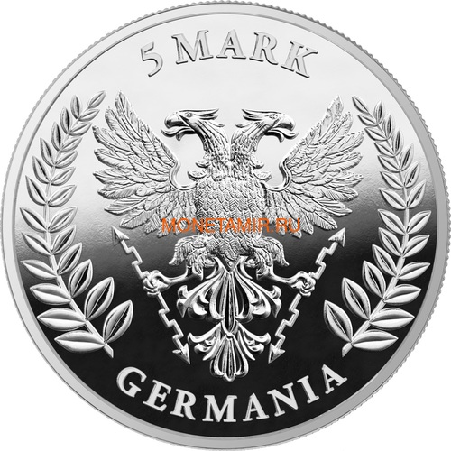 Германия 5 марок 2020 Германия Орел (Germania 5 Mark 2020 Gemania 1oz Silver Coin).Арт.75 (фото, вид 1)