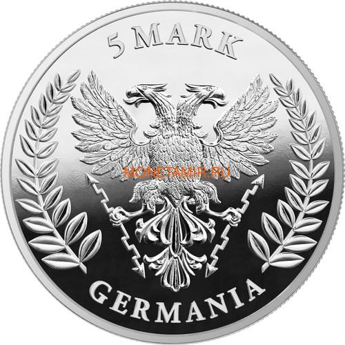 Германия 5 марок 2020 Германия Орел (Germania 5 Mark 2020 Gemania 1oz Silver Coin).Арт.75 (фото, вид 1)