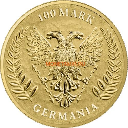 Германия 100 марок 2020 Германия Орел (Germania 100 Mark 2020 Gemania 1oz Gold Coin BU).Арт.27022019001500E/75 (фото, вид 1)