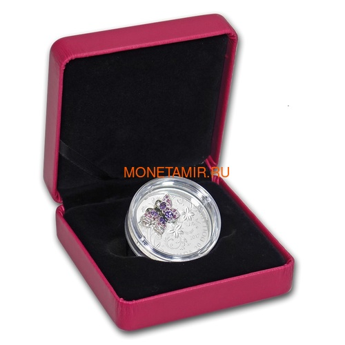 Канада 20 долларов 2017 Бабочка серия Насекомые из Драгоценных Камней (Canada 20$ 2017 BUTTERFLY Bejeweled Bugs Silver Coin).Арт.60 (фото, вид 4)