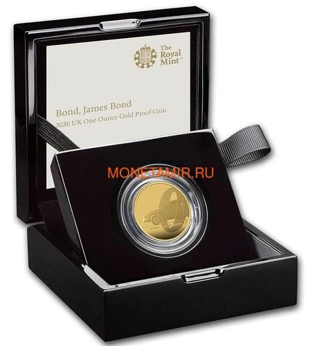 Великобритания 100 фунтов 2020 Джеймс Бонд (GB 100£ 2020 James Bond 1oz Gold Proof Coin).Арт.65 (фото, вид 3)