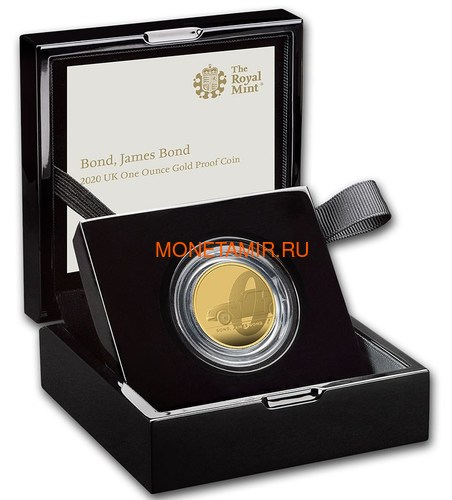 Великобритания 100 фунтов 2020 Джеймс Бонд (GB 100£ 2020 James Bond 1oz Gold Proof Coin).Арт.65 (фото, вид 3)
