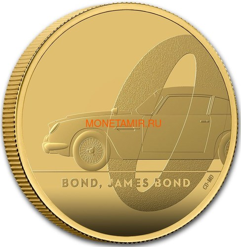 Великобритания 100 фунтов 2020 Джеймс Бонд (GB 100£ 2020 James Bond 1oz Gold Proof Coin).Арт.65 (фото, вид 1)